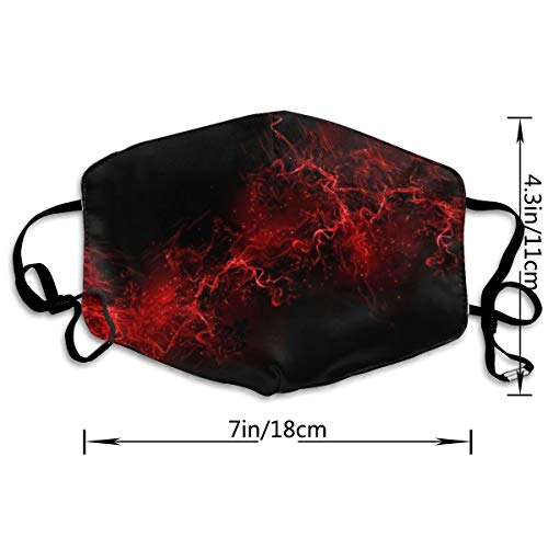 COMputer998 Black Background Red Paint Explosion Face Mask Dust Mask Anti Pollution Unisex Mouth Mask,Washed Reusable Polyester Face Mask,Can Be Repeatedly Used