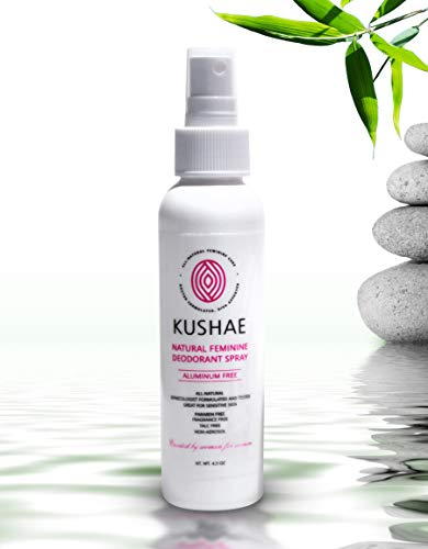 KUSHAE Natural Feminine Deodorant Spray | All Natural | OB GYN Created | All-Day Protection from Sweat'Down There' | Feminine Spray