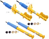 NEW BILSTEIN FRONT & REAR SHOCKS FOR 05-10 FORD MUSTANG, B6 GAS PRESSURE SHOCK ABSORBERS, INCLUDING BASE COUPE CONVERTIBLE BOSS BULLITT GT SHELBY V6 2005 2006 2007 2008 2009 2010