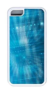 Customized Case patterns abstract parallax blue39 TPU White for Apple iPhone 5C by icecream design