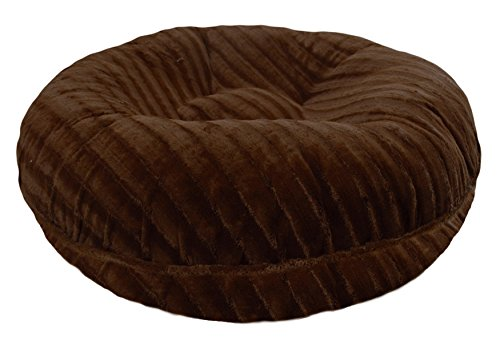 BESSIE AND BARNIE 24-Inch Bagel Bed for Pets, X-Small, Godiva Brown