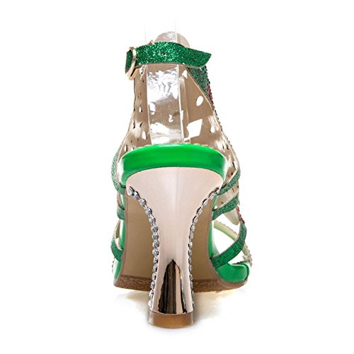 Zanpa Women Summer Mules Sandals 2#green Lih84