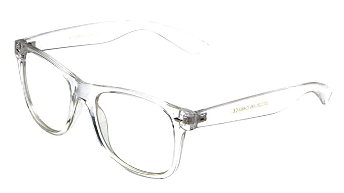 cbfd18b4a68 Fake Plastic Transparent Clear Frame Non-Prescription Chic UV400 Protection