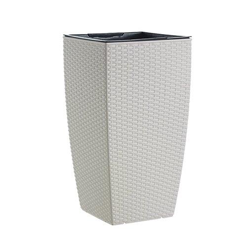 Emsa casa Mesh 513016 Vaso Colonna, bianca, 30 x 57 cm