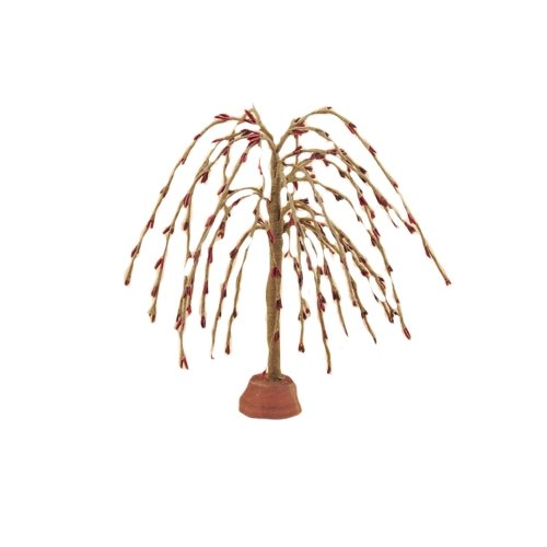 Weeping Willow Branch (CWI Gifts 4-Piece Weeping Willow Tree Set, 7-Inch, Burgundy)