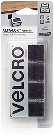 VELCRO Brand VEL-30177-USA ALFA-LOK Fasteners | Heavy Duty Snap-Lock Technology | Self-Engaging and Multidirec
