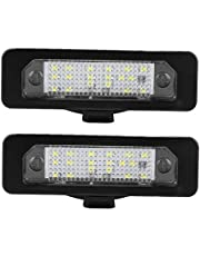 Akozon License Plate Light 2Pcs Car Led License Plate Light Lamp For Ford Mustang Fusion Flex Taurus Lincoln Mks Mkz Mkt Mkx