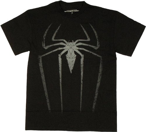 Mad Engine Men's Amazing Spiderman Spida Spot T-Shirt, Black, Small