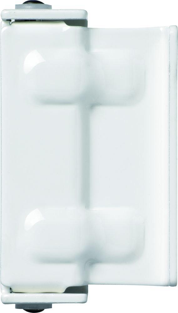 ABUS 323362 SW2 W - Chiavistello universale per porte e porte-finestre, in acciaio, colore: Bianco
