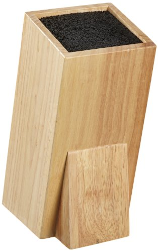 Esmeyer 304-009 Universal-Messerblock WONDER  aus Gummibaumholz,  Maße: ca. 11 x 11 x 25 cm.