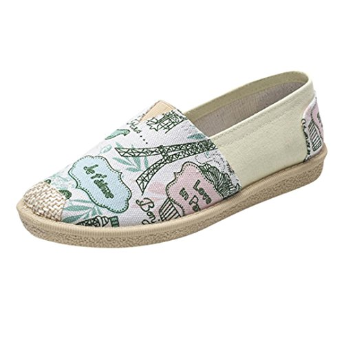 VEMOW Sandals for Women, Trainers Mary Janes Cute Lace-up Flats Flip Flops Thongs Espadrilles Wedge Running Walking Dance, Female Cartoon Print Slip On Casual Breathable Shoes Blue