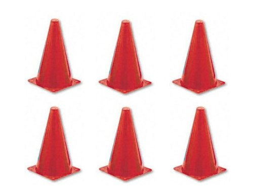 Champion Sports 9 Inch Colored Cones All Red - Set of - Colored Cone