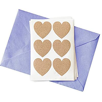 48 Glitter Stickers Rose Gold Hearts: Arts, Crafts & Sewing