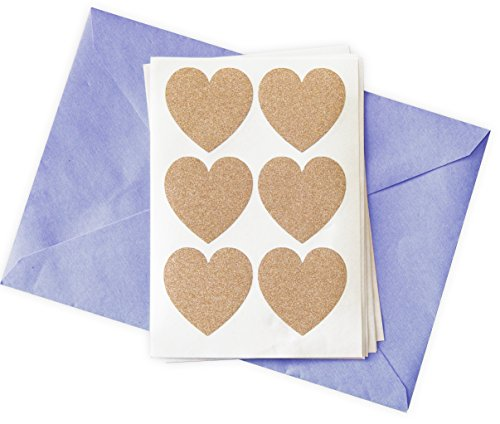 48 Glitter Stickers Rose Gold Hearts -