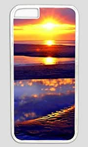 Beach Sun Rise Abstract DIY Hard Shell Transparent iphone 6 plus Case Perfect By Custom Service