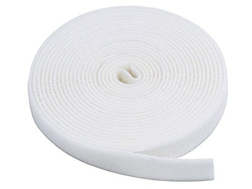 Fastening Tape 0.75-inch Hook & Loop Fastening Tape 5 yard/roll - White (2 Pack) (Fastening Hardware)