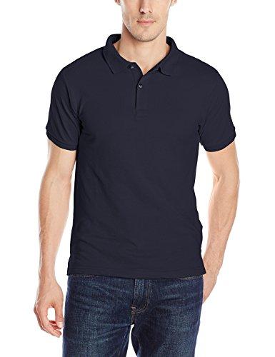IZOD Uniform Young Men's Short Sleeve Pique Polo, Navy,