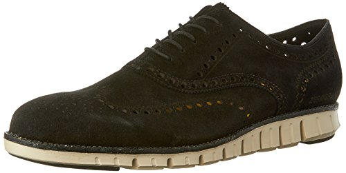 Cole Haan Mens Zerogrand Ala Oxford Nero Suede