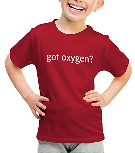 shirtloco Girls Got Oxygen Youth T-Shirt, Cherry Red Extra Small