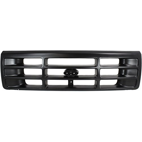 Assembly 96 Bronco Ford Grille (Evan-Fischer EVA17772038428 Grille for Ford F-Series 92-97 Painted-Black)