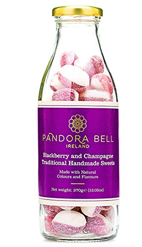 Pandora Bell Hand-Made Blackberry & Champagne Candies in Glass Bottle 370 g Berry Bell