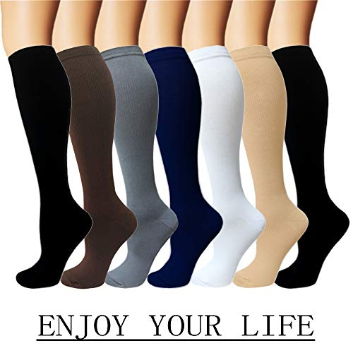 Hard-Working 1 Pair Fashion Unisex Men Women Leg Support Stretch Magic Knee High Compression Socks Fitness Varicose Cotton Socks Anti Fatigue Dependable Performance Men's Socks