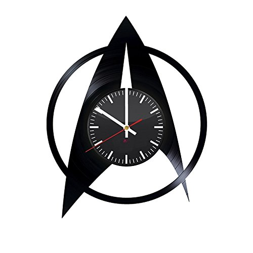 7 Of 9 Borg Costume (Star Trek Emblem Design Handmade Vinyl Record Wall Clock - Get unique home room or garage wall decor - Gift ideas for his and her – Fantasy Film Logo Unique Modern Art)