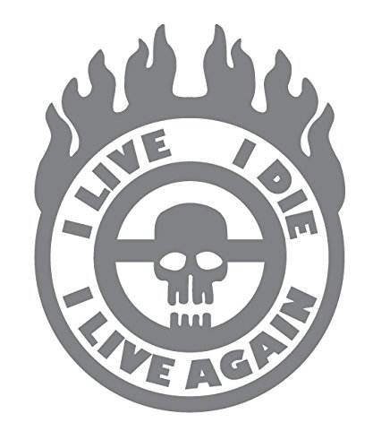 White War Boy Badge I Live I Die Small Mad Max Style Vinyl Jeep Truck Rig Decal Sticker I Live Again