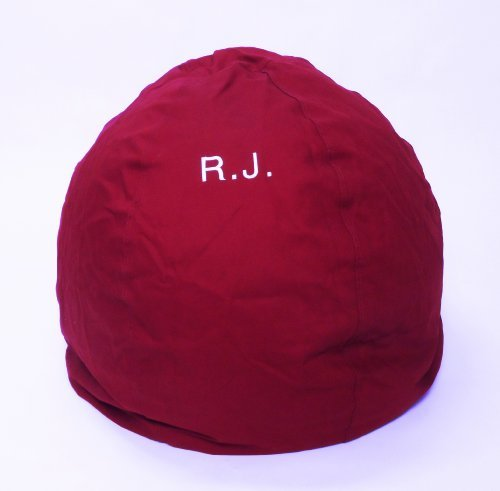 BBean Bag Chair Kid Size Personalized Embroidered Comfy Bean - Burgundy