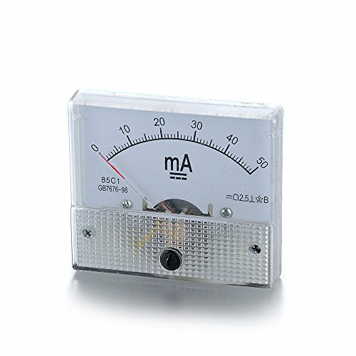 Atoplee 1pcs DC 0-50mA Ampmeter Analog AMP Current Panel Meter Ammeter Gauge ()