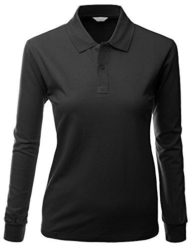 Xpril Women S Cotton Pk Silket Polo Dri Fit Long Sleeve