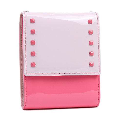 Rivets Watermelon Crossbody Patent Patchwork Shoulder Leather Lady Damara Bags Mini ExzaBq