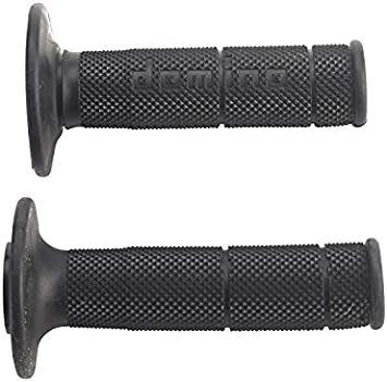 120 mm Accessori Domino COPPIA MANOPOLE MODELLO SNAKE BICOLORE VERDE//NERO IN GOMMA PER MOTO OFF ROAD CROSS//ENDURO Lunghezza 97.5595.04-00