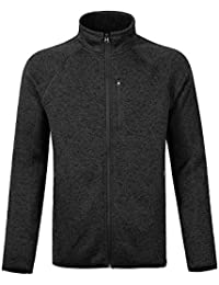 Men's Soft Shell Sweatshirt Full-Zip Midweight Fleece Sweater Knit Jacket
