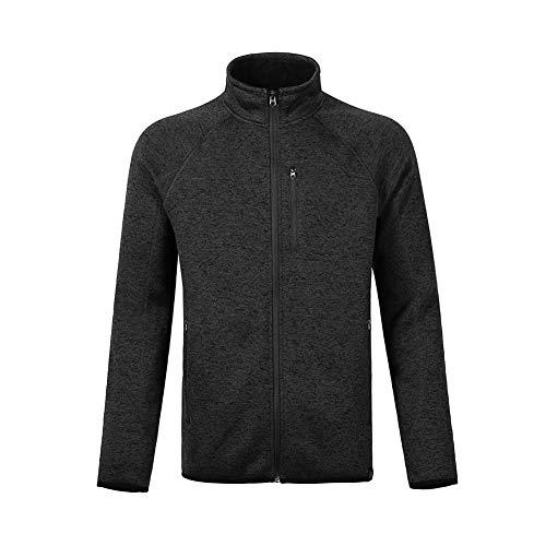 - Dolcevida Men's Soft Shell Warm Sweatshirt Full-Zip Midweight Fleece Sweater Knit Jacket (Black, L)
