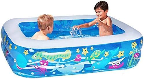 SHYPA エアーポンプ付きバスタブホームSPA入浴装備を浸しブルー色のインフレータブルバスタブプラスチック製ポータブル折り畳み式のバスタブ