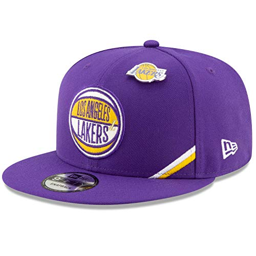 New Era NBA Men's Los Angeles Lakers 2019 Official NBA Draft 9FIFTY Adjustable Snapback Hat Purple ()