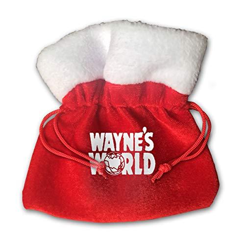 Kim Mittelstaedt Wayne's World Christmas Bag Santa Present Sack Drawstring Bag for Daily Use
