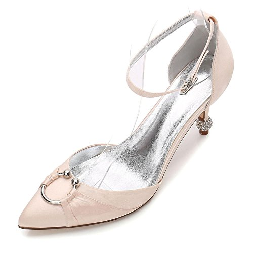 L@YC Boda Para Mujer 17767-25 Confort Summer Fall Satin Vestido de Novia Party & Evening Stiletto High Heel Blue Champagne