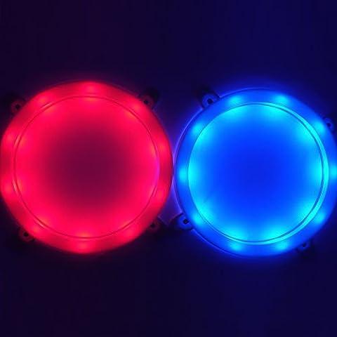 Stress Free Key Cornhole LED Lights, Ultra Bright Night Light for Standard Family Backyard Bean Bag Toss Cornhole Game, 15 Mix and Match Color Options! Uses AA Batteries, Set of 2 (1 Red, 1 (Backyard Beans)