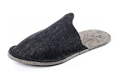 Hombre Estar Zapatillas Da De Negro Casa Ciabatta Fieltro Para Por Orthopant Ospite wpqvn6