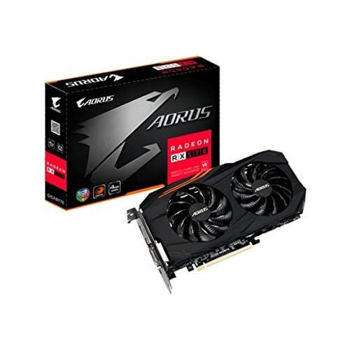 chollos oferta descuentos barato Gigabyte Radeon RX 570 Tarjeta gráfica de 4 GB Color Negro