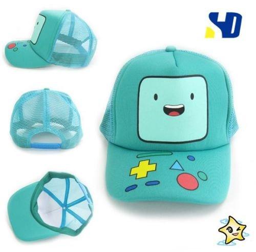 Adventure Time With Finn & Jake: BMO Beemo Face Snapback Cyan Baseball Cap hat (Adventure Time Finn Adult Costume)