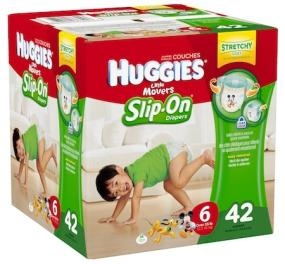 Huggies Little Movers Slip-on Diapers Step 6 Big Pack, 42 Count ...
