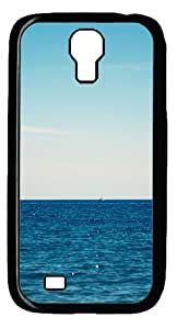 Samsung Galaxy S4 I9500 CaseBlue Ocean Sail PC Hard Plastic Case for Samsung Galaxy S4 I9500 Black