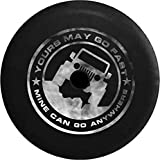 JL Series Jeep Spare Tire Cover Backup Camera Hole Go Fast Mine Can