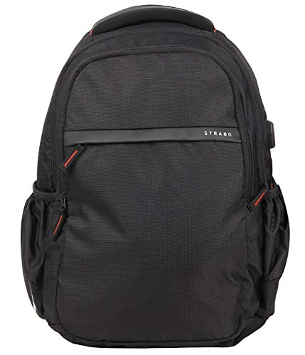 STRABO Office Travel Moto USB Backpack Black 28 L