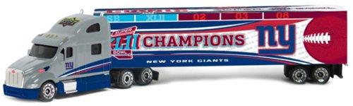 (New York Giants Super Bowl XLII Champions Upper Deck Collectibles NFL Peterbilt Tractor-Trailer)