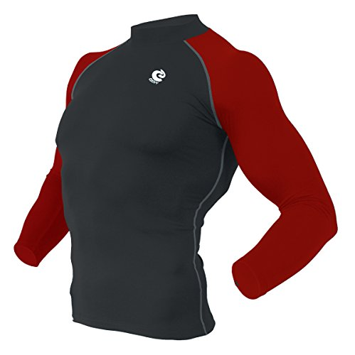 (Coovy Sports Compression Under Base Layer Heat Armour Long Sleeve Wear Shirts)