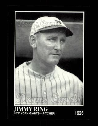 1992 Conlon # 614 Jimmy Ring San Francisco Giants (Baseball Card) Dean's Cards 8 - NM/MT Giants
